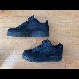 Nike Air Force 1 black pony hair size 8